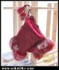 Hot sale Christmas gift fur gloves! Real rabbit fur gloves fingerless. Genuine rabbit fur gloves for girls. X'mas gift wholesal