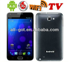 "5.0"" Capacitive touch screen android 4.0 MTK6575 3G TV Cell phone"