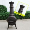 Bronze cast iron chimenea