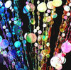 plastic beaded door curtain- Rainbow Champagne-Bubble