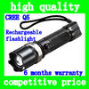 High quality Rotating focus zoom CREE Q5 rechargeable strong flashlight bike front LED light bicycle