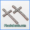 Wholesale Cross Connector Charm Copper Color Sideway Pave High Quality Rhinestone Beads For Bracelets Making MC-N06