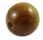 Round Wood Beads, Lightcoffee, 24-25mm in diameter, hole: 5mm(TB25MMY-5)