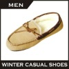 Latest fashion loafers design casual style genuine leather shoes