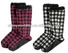2012 fashion fleece home socks indoor floor socks