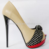 party shoes dress shoes 2013 fashionable thin high heel beige ladies sandals toes shoes