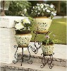 3-piece metal planter set