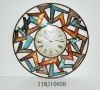Colorful Rotating Metal Art Wall Clock