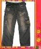 Newest handsome design denim jeans for kids