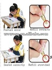 Automatic anti-myopia anti humpback students writing pen