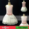 2012 Selling best lovely hand made flowers scalloped flower girl dresses