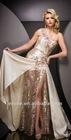 ET-144 Lace Appliqued One-Shoulder Lace Ladies Sequin Dress