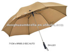 2 fold golf umbrella with straps