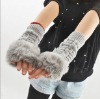 wholesale winter gloves fur fingerless long sleeve winter gloves 2012 October new arrival winter design gloves