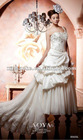 special design low back one shoulder taffeta with lace cover beading bridal dress