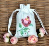 Embroidery cotton gift bag