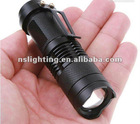 Top quality 300LM CREE Q5 LED Camping Flashlight Adjustable Focus Zoom waterproof flashlights Lamp