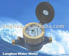 Multi jet vane wheel liquid capsulized counter water meter