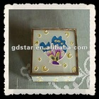 coloured drawing or pattern glass jewelry box