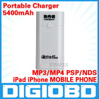 5400mAh Portable Charger for iPad iPhone MOBILE PHONE MP3/MP4 PSP/NDS USB Output Mobile Power