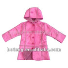 Girl's Polyester Woven Hooded Coat (BT-Girl 04)