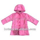 Girl's Polyester Woven Hooded Coat (BT-Girl 04)