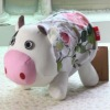 2011 latest cute flower printed cow design fabric toilet tissue cover