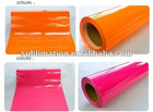 Heat transfer Pu pvc fluorescent film