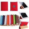 Newest colorful 360 rotating degree leather case for iPad 2 / ipad 3 The New iPad