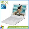 1GB/160GB HDD white black color 13.3 white laptop netbook