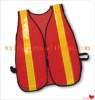 Safety high quality red reflective mesh vest