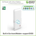 Mini 3g wireless router with sim slot with battery 150M MIFI (EVDO&HSDPA)
