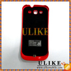 3300mAh External Battery Charger Case For Samsung Galaxy S3 i9300 Ferrari Red