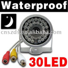 CCTV security IR camera Color Day /night Cmos mini 30 LED Infrared Cam audio NTSC/PAL