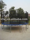 15ft trampoline with enclosure and ladder