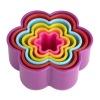 Colourful 6 Flower Cookies Cutter Set
