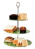 3-layer modern glass tempered cake stand
