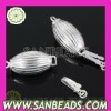 Hot selling 925 sterling silver jewelry with Oval Silver Pearl Fishhook Clasp