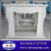 china white marble fire place