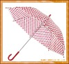 535MMX8ribs manual open straight transparent umbrella