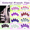 Colorful fake nails & Fashion French nail tips