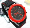 Hot sale fashion exquisite design big face quartz silicone watch