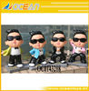 Pop money box resin gangnam style money pot / PSY style model with 4 color mixxed OC0143218