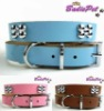 Top Quality!100% Real Cow Leather Bone Pet Collar