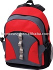 Red and Grey school backpack in 600D material