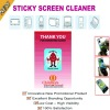 PU and microfiber sticky mobile phone screen cleaner
