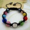handmade wholesale colorful shabhala bracelets chain Hematite