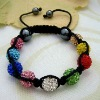 handmade wholesale colorful shabhala bracelets chain Hematite