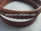 Studed flower pu leather belts