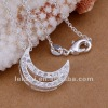Cheap moon shape sterling silver necklace